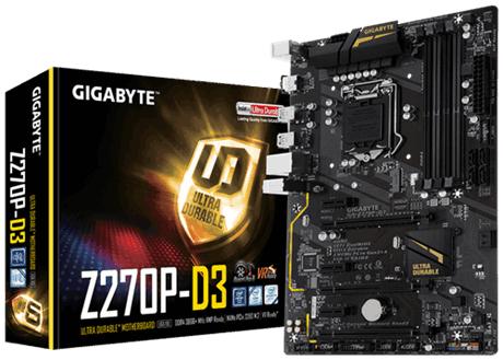 Gigabyte GA-Z270P-D3 1.0, DDR4, PCIe Gen3 x4, SATA
