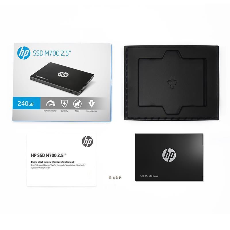 HP SSD M700 240GB 2.5'' SATA3 6GB/s, 560/520 MB/s, IOPS 75K/80K, MLC