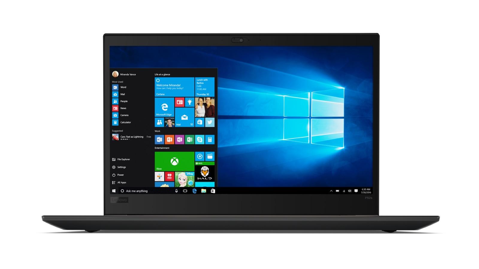 Lenovo Thinkpad P52s 15.6F/i7-8650U/512SSD/32GB/P500 2G GDDR5/F/W10P/černý + monitor X24-20 ZDARMA