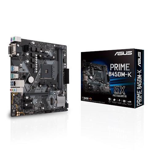ASUS PRIME B450M-K AM4, B450, USB3.1, M.2, SATA 6GB/S