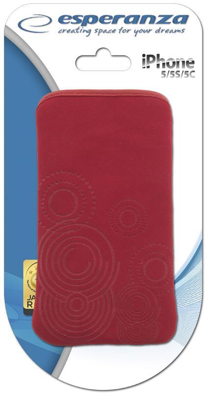 Esperanza EMA105R-IP5 Pouzdro pro iPhone 5/iPod Touch 5, červené
