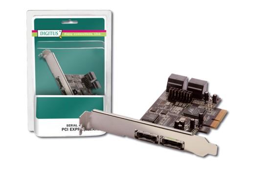Digitus SATAIII RAID PCIexpress přídavná karta int: 4xSATA / externí: 2xeSATA, Marvell 9230
