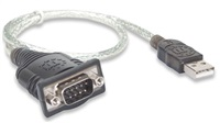 MANHATTAN převodník z USB na sériový port (USB AM / DB9M, RS232), blistr