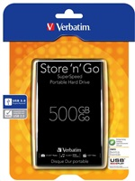"VERBATIM 500GB, 2,5"", 5400rpm, USB 3.0, 8MB, 53029"