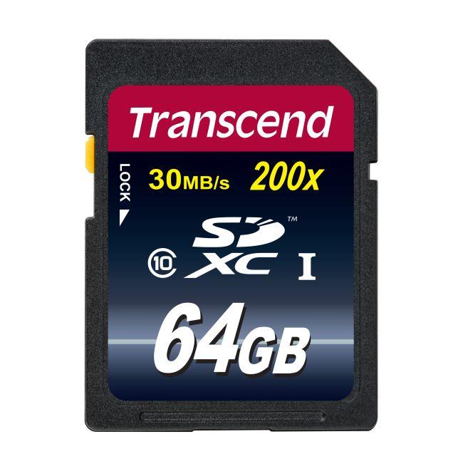 Transcend 64GB SDXC (Class 10) UHS-I 200x (Premium) paměťová karta