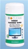 D-clean Navlhčené utěrky na obrazovky v dóze 100ks