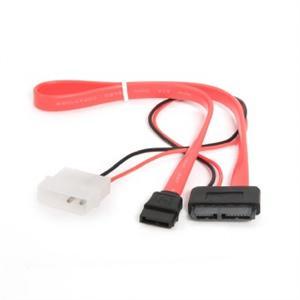 Gembird SATA SLIMLINE datový + napájecí kabel 0.35m