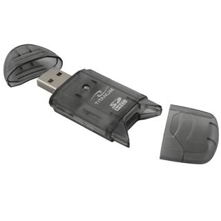 Titanum TA101K Čtečka karet SDHC/MiniSDHC/MicroSDHC/RS/MM USB 2.0, černá