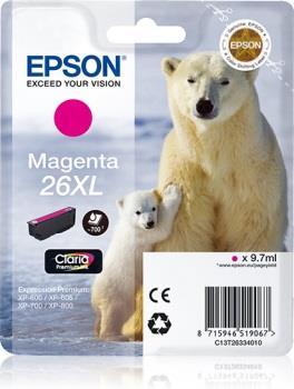 Inkoust Epson T2633 XL magenta Claria | 9,7 ml | XP-600/700/800