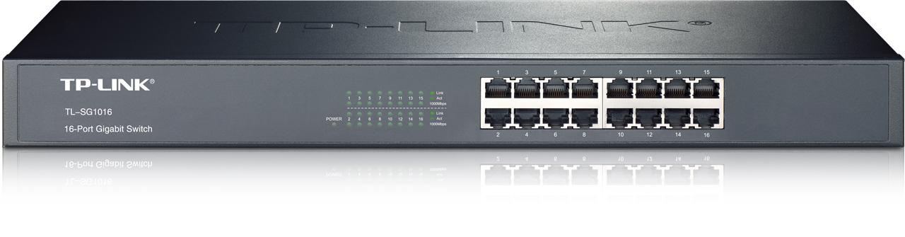 "TP-Link TL-SG1016 Switch 16xTP 10/100/1000Mbps 19""rackmount"