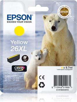 Inkoust Epson T2634 XL yellow Claria | 9,7 ml | XP-600/700/800