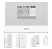 iGET SECURITY M3 - Domovní GSM Alarm s pokročilými funkcemi, set, záložní baterie, podpora IP kamer