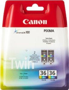 Canon inkoustová náplň CLI-36/ Twin pack/ barevná