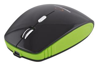 Esperanza EM121G bezdrátová optická myš, 1600 DPI, 2.4GHz, nabíjecí kabel, černo