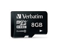 VERBATIM Micro SecureDigital SDHC 8GB Class10