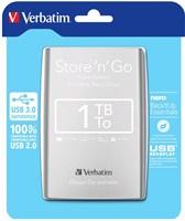 Verbatim Store 'n' Go 1TB externí HDD 2.5'', USB 3.0, stříbrný