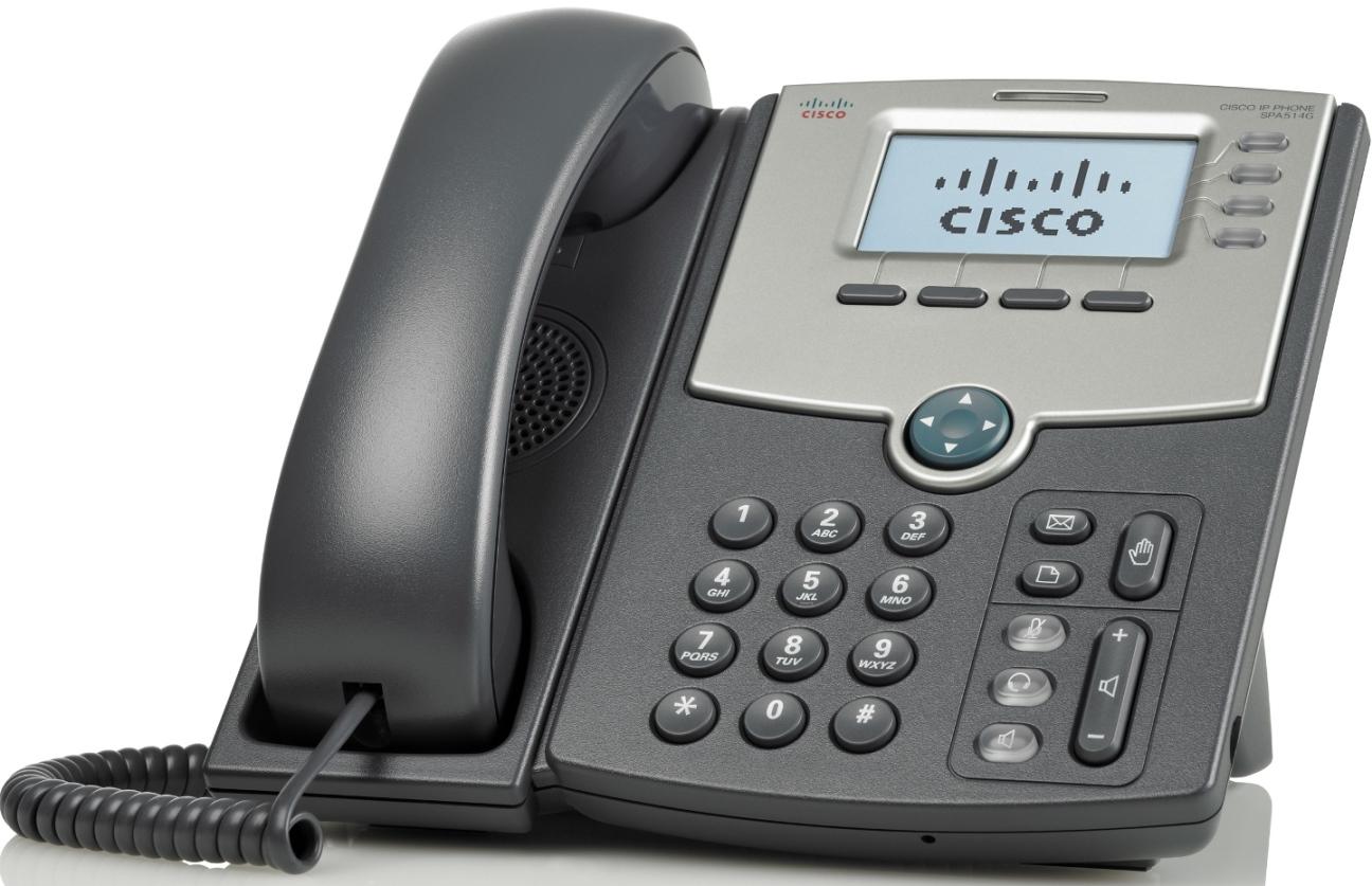 Cisco 4 Line IP tel., Display,PoE,Gig Port,SPA514G