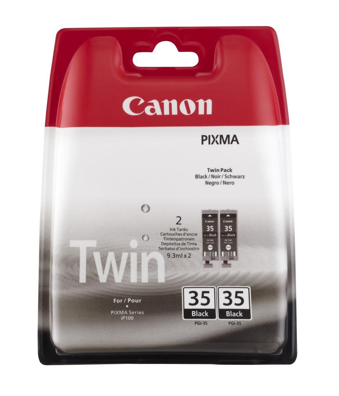 Canon inkoustová náplň PGI-35Bk/ černá/ Twin pack