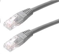Patch kabel Cat5E, UTP - 0,3m, šedý
