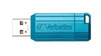 VERBATIM USB Flash Disk Store 'n' Go PinStripe 32GB - karibská modř