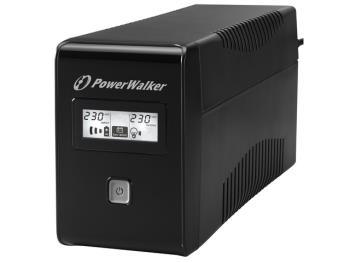 Power Walker UPS Line-Interactive 650VA 2x SCHUKO, RJ11, USB, LCD