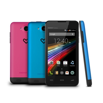 "ENERGY Phone Colors (Dual Core 1GHz, 4,0"" TFT WVGA 800x480px, 4GB, 5mpx + VGA cam, Dual SIM, GPS, BT, Wifi, Android 4.4"