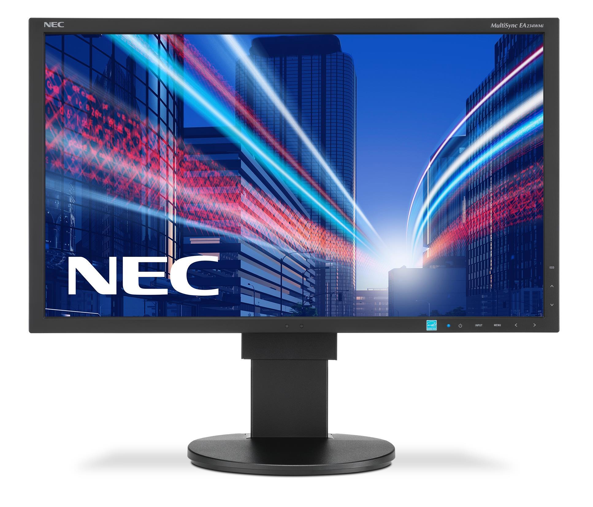 "NEC 23"" EA234WMi - 1920x1080, IPS, W-LED, 250cd, D-sub, DVI, DP, HDMI, USB, Repro, černý"