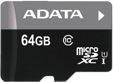 ADATA 64GB MicroSDXC Premier,class10 with Adapter