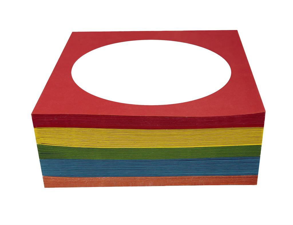 Esperanza Papírové pošetky s okénkem na CD | 100 ks, mix barev