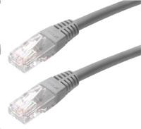 Patch kabel Cat5E, UTP - 1m, šedý