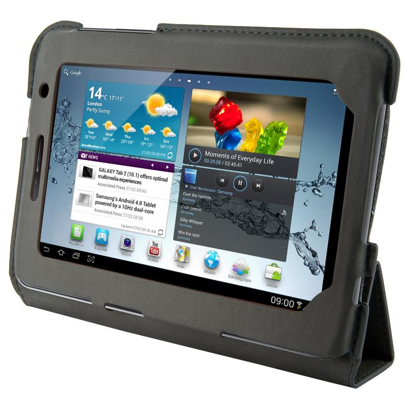 4World Pouzdro - stojan pro Galaxy Tab 2, 4-Fold Slim, 7'', Šedá