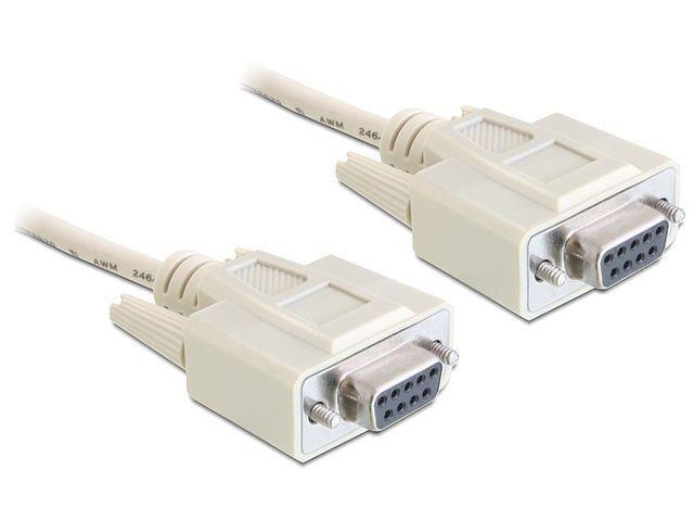 Delock kabel serial Null Modem 9F/9F RS232, 3m