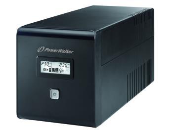 Power Walker UPS Line-Interactive 1000VA 2x SCHUKO, 2x IEC, RJ11/RJ45, USB, LCD