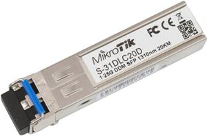MikroTik S-31DLC20D, SingleMode SFP modul 1.25G (20km)