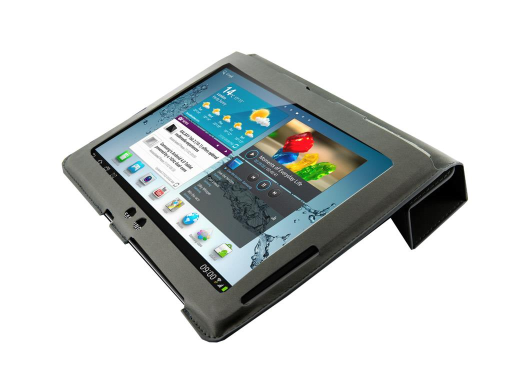 4World Pouzdro - stojan pro Galaxy Tab 2, 4-Fold Slim, 10'', Šedá