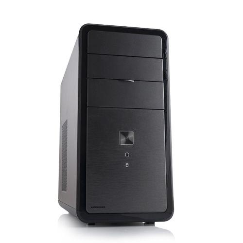 Modecom PC skříň MINI LOKI, USB 3.0 + USB 2.0, HD audio, černá/matná, bez zdroje
