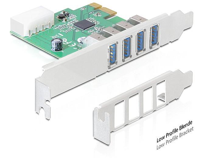 Delock karta PCI Express > 4 x USB 3.0
