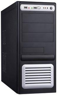 PC skříň Eurocase ATX 5435 Middle Tower, zdroj 400W (černo-stříbrná)