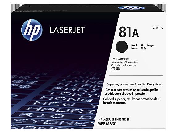 HP CF281A Toner 81A pro LaserJet M604, M605, M606, M630 (10 500str), Black