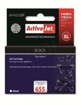 Kazeta ActiveJet AH-655BR   černá   20 ml   HP HP 655 CZ109AE
