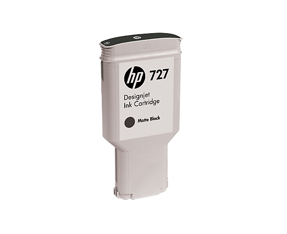 HP 727 Black matte DJ Ink Cart, 300 ml, C1Q12A