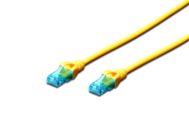 Digitus Ecoline Patch Cable, UTP, CAT 5e, AWG 26/7, žlutý 10m, 1ks