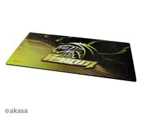 AKASA Podložka pod myš Venom XXL, tloušťka 3mm, přirodní pryž, odolná proti špíně a prachu, žlutá