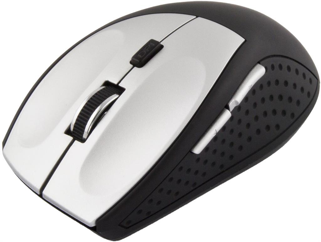 Esperanza EM123S bezdrátová myš, 1000/2400 DPI, bluetooth, 6 tlač., stř.-černá