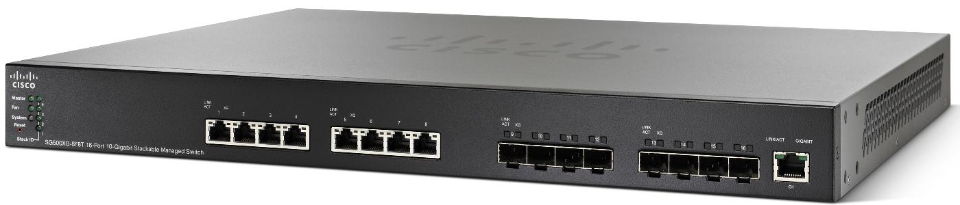 Cisco SG500XG-8F8T-K9-G5, 16x 10G ports