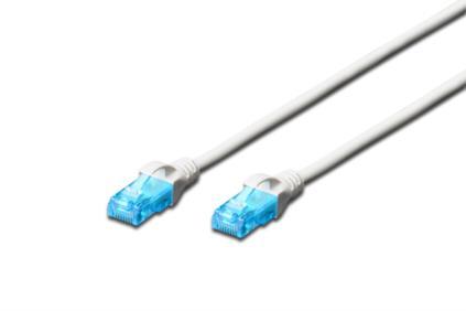 Digitus Ecoline Patch kabel, UTP, CAT 5e, AWG 26/7, bílý 3m, 1ks