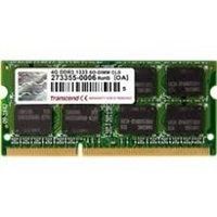 SODIMM DDR3 2GB 1333MHz TRANSCEND pro Apple Macbook series, 1Rx8 CL9