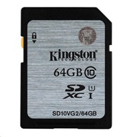 KINGSTON 64GB SDXC Class10 UHS-I 45MB/s Read Flash Card