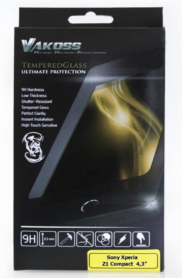 VAKOSS tvrzené ochranné sklo pro Sony Xperia Z1 Compact 4,3'', 9H