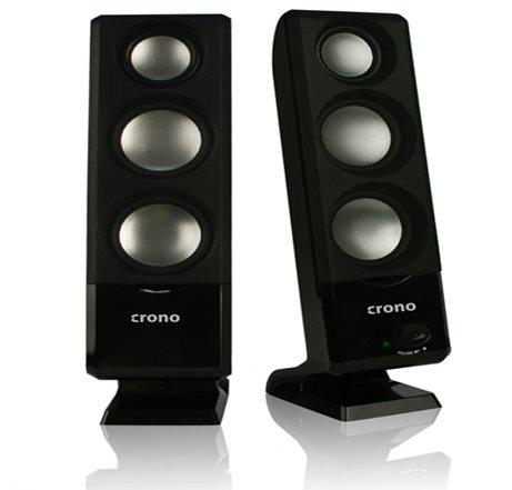 Crono CS-2003 - reproduktory 2.0, 6W, USB, černé